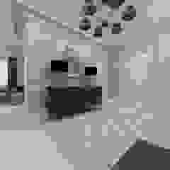 Dstudio.M Couloir, entrée, escaliers classiques Beige