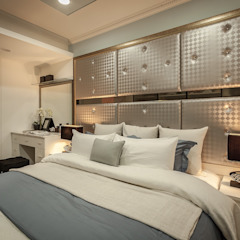 Dormitorios de estilo moderno de Green Leaf Interior青葉室內設計 Moderno