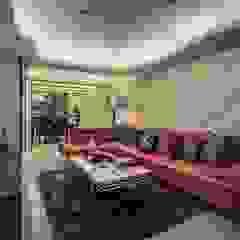 Salones de estilo moderno de Green Leaf Interior青葉室內設計 Moderno