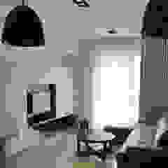 三峽北大 现代客厅設計點子、靈感 & 圖片 根據 AIRS 艾兒斯國際室內裝修有限公司 現代風