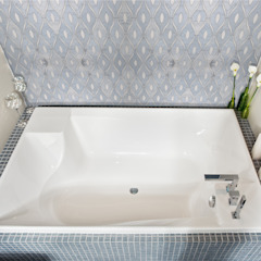 Chandelier Elalux Tile Modern Bathroom Marble Blue