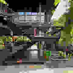 Country style house by บริษัท สถาปนิกชุมชนและสิ่งแวดล้อม อาศรมศิลป์ จำกัด Country Wood Wood effect