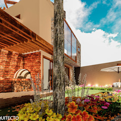 CASA JONES - PROYECTO Jardines de estilo moderno de FRANCO CACERES / Arquitectos & Asociados Moderno