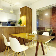 Industrial style dining room by 双設計建築室內總研所 Industrial