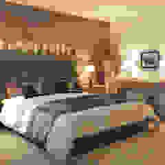 Hotel Arlberg Jagdhaus Schlafzimmer im Landhausstil von Go Interiors GmbH Landhaus