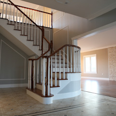 Country style corridor, hallway& stairs by homify Country Solid Wood Multicolored