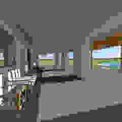 Casa de Campo en Jayanca Balcones y terrazas rústicos de ROQA.7 ARQUITECTURA Y PAISAJE Rústico Piedra