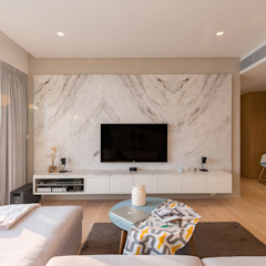 Minimalist living room by arctitudesign Minimalist Marble
