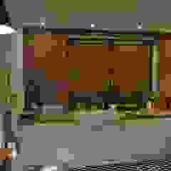 Żaluzje drewniane Wiejska kuchnia od Gama Styl Wiejski Drewno O efekcie drewna