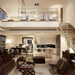 The River Asian style living room by HB Design Pte Ltd Asian