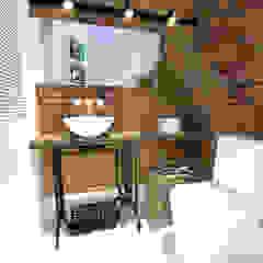 Lavabo Rústico Banheiros rústicos por Andressa Cobucci Estúdio Rústico