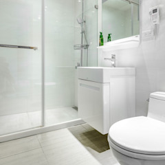Asian style bathroom by 唯創空間設計公司 Asian