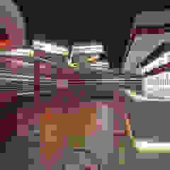 Night Club by HEID Interior Design Industrial Concrete