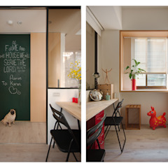 Estudios y despachos de estilo escandinavo de 一葉藍朵設計家飾所 A Lentil Design Escandinavo