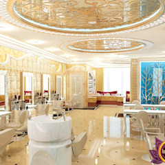 Luxurious beauty salon interior of Katrina Antonovich by Luxury Antonovich Design Eclectic