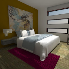 Modern Bedroom by MVarquitectos Arq. Irma Mendoza Modern
