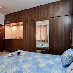 Interior Design Bangalore 2BHK Apartment Mediterranean style bedroom by Design Arc Interiors Interior Design Company Mediterranean Plywood