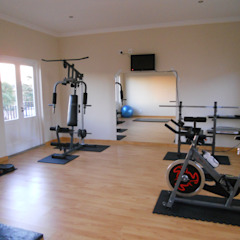 French House Mediterranean style gym by SOJE Interior, Design and Decor PTY (Ltd) Mediterranean