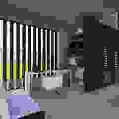 Casa Los Cerros Salas multimedia de estilo moderno de ARQUITECTO JUAN ANDRES GUTIERREZ PEREZ Moderno