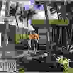 Casa Los Cerros Jardines de estilo moderno de ARQUITECTO JUAN ANDRES GUTIERREZ PEREZ Moderno