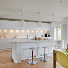 House Renovation and Extension Tenterden Kent STUDIO 9010 Modern Kitchen White