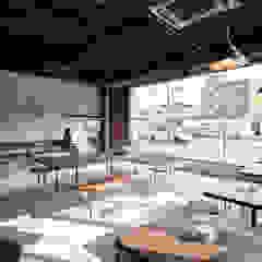 توسط Innovation Studio Okayama مینیمالیستیک سیمان