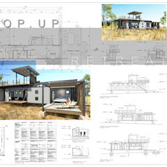 Pop Up retreat - Shipping Container living Industrial style houses by Edge Design Studio Architects Industrial