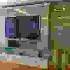 Projeto de reforma residencial Salas multimídia modernas por KOSH Arquitetura & Interiores Moderno