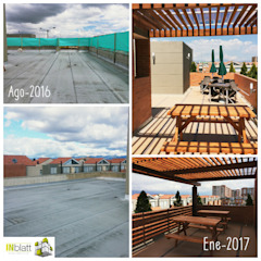 Modern terrace by INblatt _Arquitectura Modern Solid Wood Multicolored