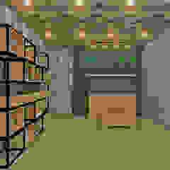 Studio Diego Duracenski Interiores Modern living room Solid Wood Wood effect