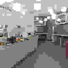 La Cresceria_bar fast food CHIARA MARCHIONNI ARCHITECT Bar & Club in stile eclettico