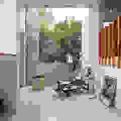 Minimalist corridor, hallway & stairs by All Arquitectura Minimalist Glass
