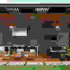 Diseño de palapa/área social. Balcones y terrazas modernos de HZH Arquitectura & Diseño Moderno