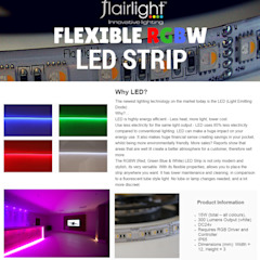 LIGHT MORE, PAY LESS. NEW LED RGBW STRIP✨ Flairlight Designs Ltd Salle multimédiaAccessoires & décorations