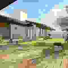 Residência estilo colonial com releitura moderna Jardins coloniais por BOULEVARD ARQUITETURA Colonial Madeira Efeito de madeira