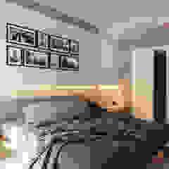 Ristrutturazione appartamento con linee moderne Camera da letto moderna di Beniamino Faliti Architetto Moderno