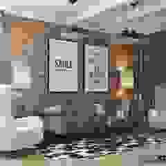 Dom w Kleczy Dolnej - zdjęcia z realizacji Rustykalny salon od MIKOŁAJSKAstudio Rustykalny