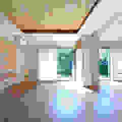 松尾台の終の住まい 和風デザインの リビング の 樋口章建築アトリエ 和風 木 木目調