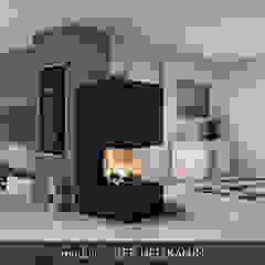 CB stone-tec GmbH Ruang Keluarga Modern Batu Black
