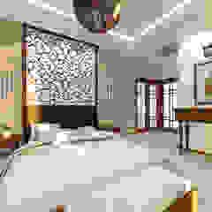 sypialnia z łazienką w stylu tajskim Egzotyczna sypialnia od Manekineko Egzotyczny