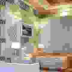 Kolonialna sypialnia od Fervor design Kolonialny
