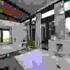 Casas de banho ecléticas por Studious Architects Industrial
