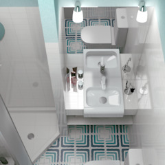 Scandinavian style bathrooms by Ёрумдизайн Scandinavian Tiles