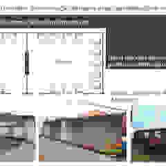 Ampliação com Containers Salas multimídia industriais por Gustavo Bomfim ARQUITETURA E URBANISMO Industrial Ferro/Aço