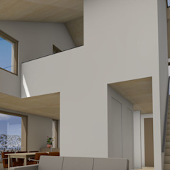 Dick van Aken Architectuur Salon moderne Bois Effet bois