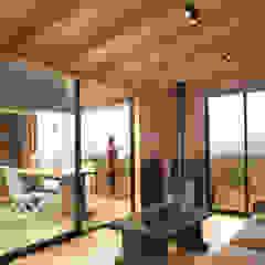 Modern Living Room by B+V Arquitectos Modern Wood Wood effect