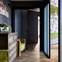 Eclectic corridor, hallway & stairs by Вира-АртСтрой Eclectic