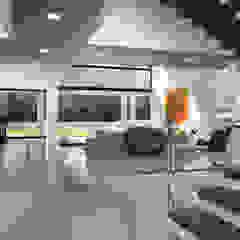 Casa 17 Salas de estilo moderno de Vivian Dembo Arquitectura Moderno Concreto