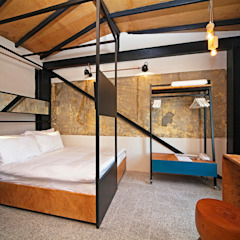 Raven Suites Endüstriyel Yatak Odası Stok Mimarlık / Tasarım / Atölye Endüstriyel
