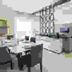 3 BHK apartment - RMZ Galleria, Bengaluru Modern dining room by KRIYA LIVING Modern